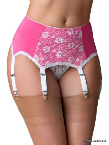 4cc9394db6e Suspender belts with six metal clasps for womens stockings